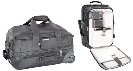 ECBC's Rolling Luggage Collection perfect for short trips, charges your devices