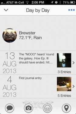 Narrato for iPhone is a fullfeatured journal app