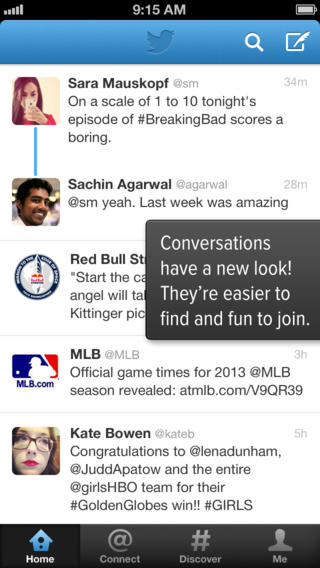 Twitter for iOS update brings a new way to look at conversations