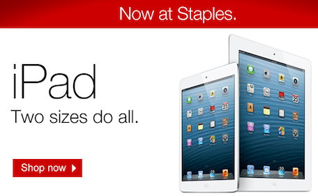 Staples begins selling the iPad