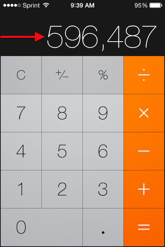 iPhone 101 Deleting numbers in the iOS Calculator app