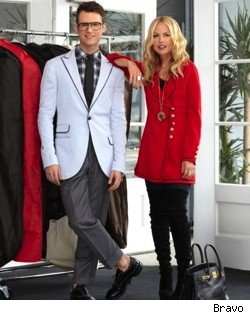 Brad Goreski and Rachel Zoe in season 3.