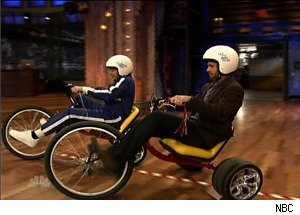 Jimmy Fallon Battles NASCAR Champ Jimmie Johnson -- in a Tricycle Race