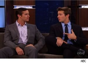 Armie Hammer and His 'Double' on 'Jimmy Kimmel Live'