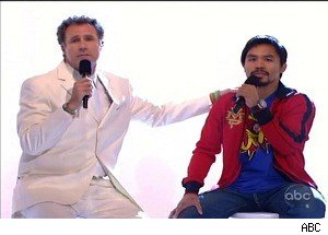 Will Ferrell and Boxer Manny Pacquiao Sing 'Imagine' on 'Kimmel'