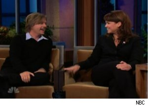 Christine O'Donnell Compliments David Spade on 'Tonight Show'