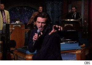 Jim Carrey's Singing Shatters a Coffee Mug on 'Late Show' (Sort of)