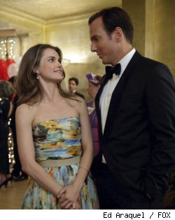 Keri Russell and Will Arnett in 'Running Wilde'