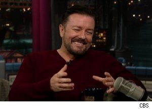 Ricky Gervais Talks Mom's Funeral on 'Late Show'