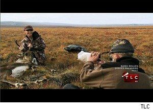 Sarah Palin and Her Father Hunt and Kill a Caribou