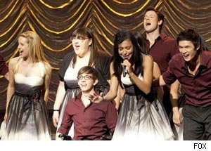 Lauren performing with the Glee Club