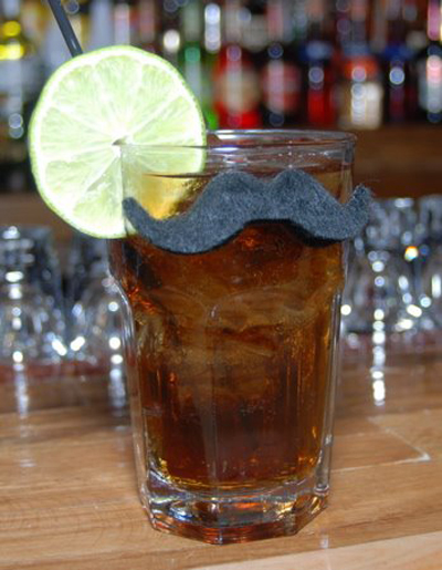 Tom Selleck cocktail with moustache