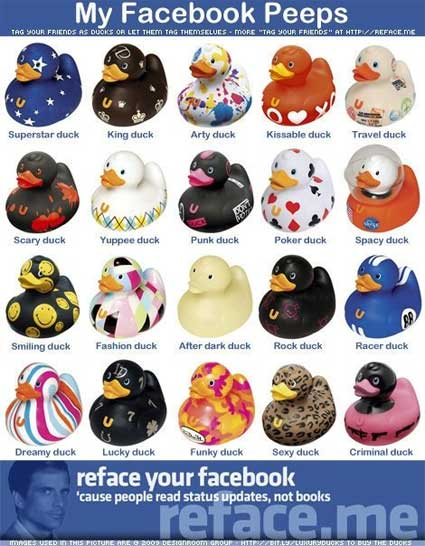 rubber ducky facebook friend tag