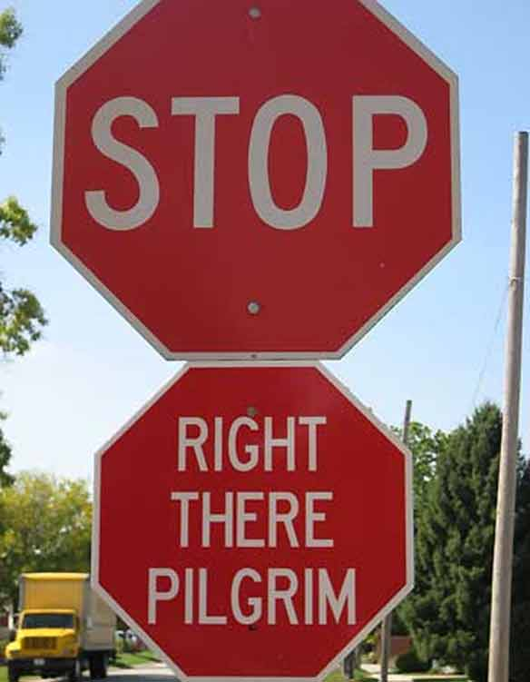 Hacked Altered Stop Signs Pilgrim