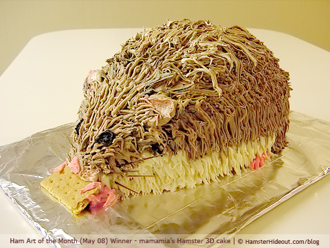 hamster-shaped cake