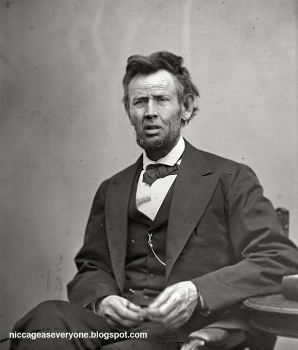 Nic Cage as Abraham Lincoln