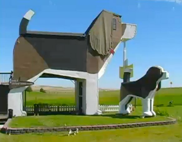 giant dog-shaped house