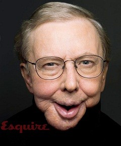 Roger Ebert with reconstructed jaw