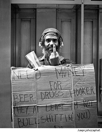 Homeless Person Sign