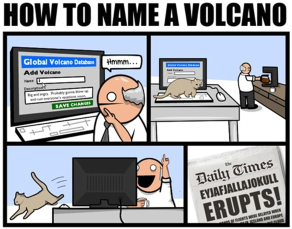 The Oatmeal: Cat names volcano