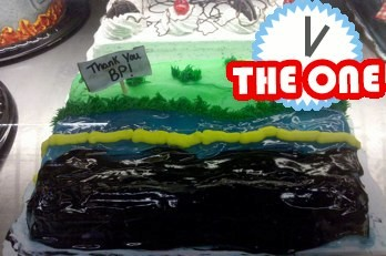 backlash against bp oil spill cake wreck