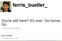 Ferris Bueller on Twitter