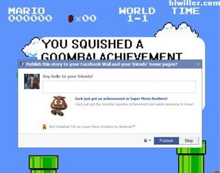 Facebook ruins Super Mario Bros.