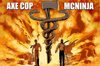 axe cop and dr. mcninja crossover poster