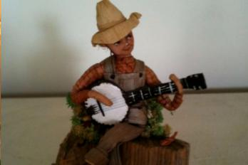 banjo playing doll