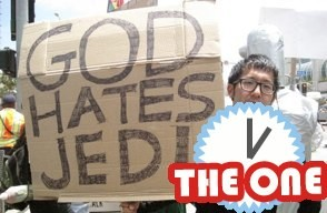 god hates jedi sign at comic con protest