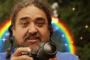paul bear vasquez the double rainbow guy with his camera