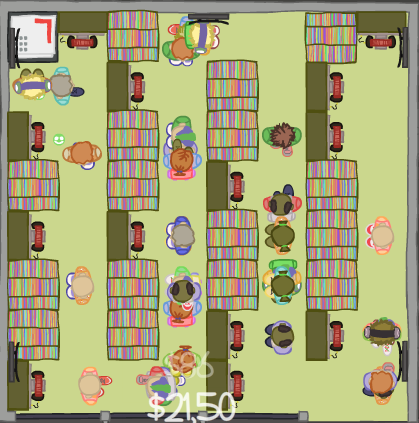Recordshop Tycoon shop layout