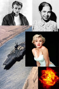 James Dean, Rosa Parks, Marilyn Monroe, the Suez Canal and a fire