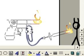 stick figure fighting clippy in animator vs. animation