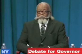 Jimmy McMillan, Rent Is Too Damn High Party candidate at governor debate in new york