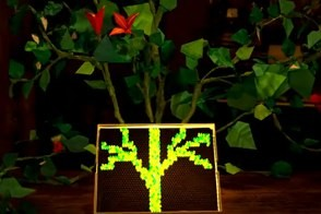 a tree from the david crowder lite brite music video