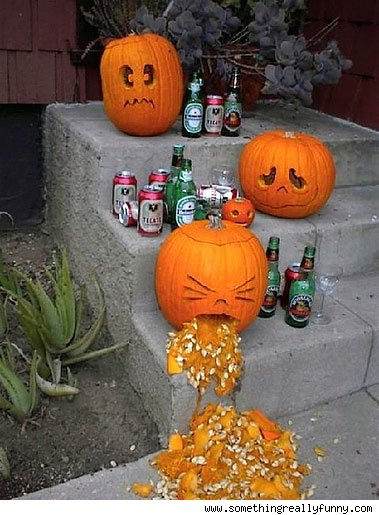 drunk pumpkin throwing up