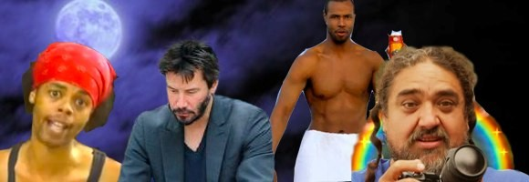 Antoine Dodson, Sad Keanu, Old Spice Guy and Double Rainbow Guy