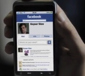 Keyser Soze on Facebook on a smartphone