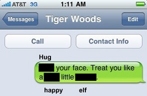 Tiger Woods Blocked Text