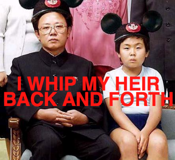i whip my heir back and forth - kim jung il and son