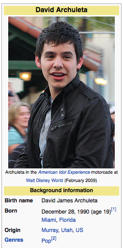 Archuleta's Wikipedia entry