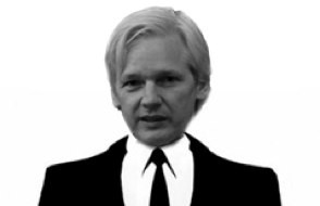 julian assange head on anonymous body