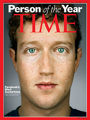 mark zuckerberg time man of year. Today Time Magazine announced