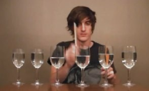 wine glass cover of legend of zelda song