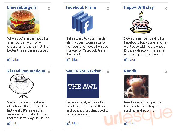 Facebook Ads Cheeseburgers Forever Alone Reddit Awl