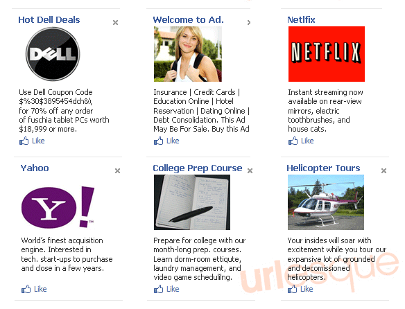 Facebook Ads Dell Yahoo Netflix
