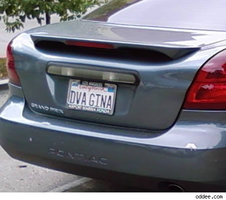 vanity plate: dva gina