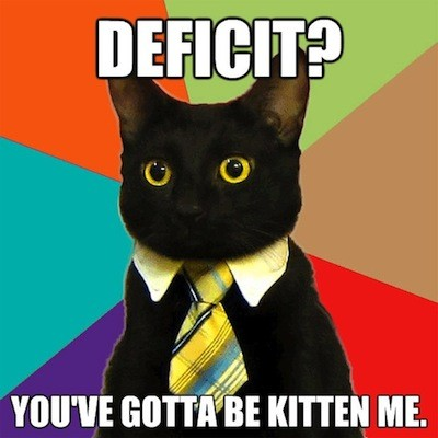 Business Cat: Deficit? You gotta be kitten me
