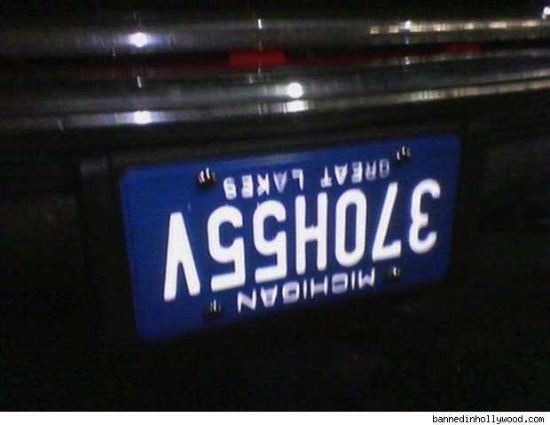 vanity plate: 370h55v, or asshole